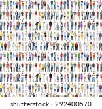 multiethnic casual people... | Shutterstock . vector #292400570