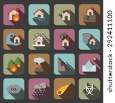 disaster icons | Shutterstock . vector #292411100