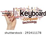 keyboard word cloud concept | Shutterstock . vector #292411178