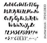 handwritten alphabet written... | Shutterstock .eps vector #292413833