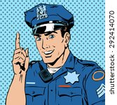 a police officer warns draws... | Shutterstock .eps vector #292414070