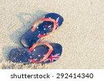 Aussie Thongs On The Beach