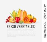 fresh and organic vegetables.... | Shutterstock .eps vector #292415219