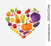 heart of vegetables. healthy... | Shutterstock .eps vector #292415246