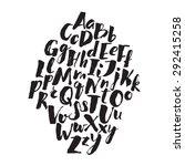 handwritten alphabet written... | Shutterstock .eps vector #292415258