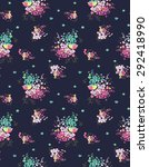 seamless floral pattern in... | Shutterstock .eps vector #292418990