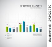 set of different graphs and... | Shutterstock .eps vector #292421750