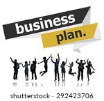 business plan planning strategy ... | Shutterstock . vector #292423706
