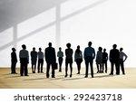 corporate business team... | Shutterstock . vector #292423718