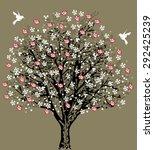 vintage wedding invitation card ... | Shutterstock .eps vector #292425239