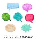 watercolor speech bubble set.... | Shutterstock .eps vector #292438466
