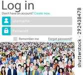 log in password identity... | Shutterstock . vector #292438478