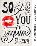 romantic quote. phrase made of... | Shutterstock .eps vector #292438490