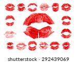 set of 17 imprint of red...   Shutterstock .eps vector #292439069