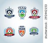 soccer logo. football logo. set ... | Shutterstock .eps vector #292442153