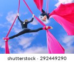 Outdoor Activity Of Cheerful...