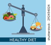 scales. selection of healthy... | Shutterstock .eps vector #292454024