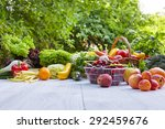 fresh organic vegetables and... | Shutterstock . vector #292459676