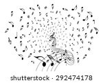 music notes explosion flow | Shutterstock .eps vector #292474178