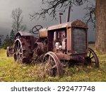 Abandoned Tractor  Metal Wheels