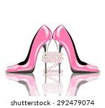 elegant pink  high heel shoes... | Shutterstock .eps vector #292479074