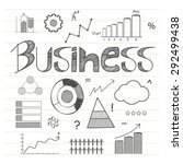 hand drawn business infographic ... | Shutterstock .eps vector #292499438