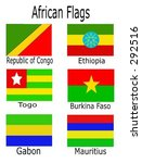 african flags   republic of...