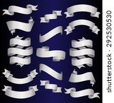 silver ribbons set. vector... | Shutterstock .eps vector #292530530