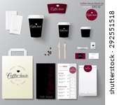 coffee shop corporate identity... | Shutterstock .eps vector #292551518