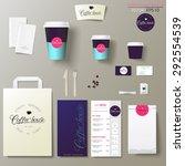 coffee shop corporate identity...   Shutterstock .eps vector #292554539