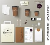 coffee shop corporate identity... | Shutterstock .eps vector #292555484