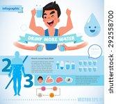 happy fresh man holding glass... | Shutterstock .eps vector #292558700