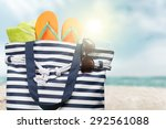 summer  bag  isolated. | Shutterstock . vector #292561088