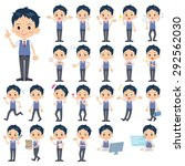 set of various poses of... | Shutterstock .eps vector #292562030