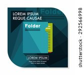 folder flat icon with long