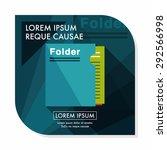 folder flat icon with long
