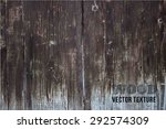 Vector Old Wooden Fence With...