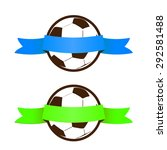 football soccer ball icon with... | Shutterstock .eps vector #292581488