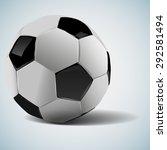 soccer ball. football... | Shutterstock .eps vector #292581494