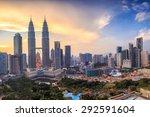 top view of kuala lumper... | Shutterstock . vector #292591604