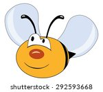 Cute Smiling Bee Character...