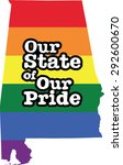 alabama gay pride vector state... | Shutterstock .eps vector #292600670
