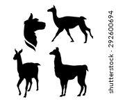 lama icons and silhouettes. set ... | Shutterstock .eps vector #292600694