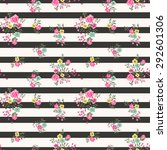 seamless floral ditsy pattern... | Shutterstock .eps vector #292601306