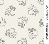 octopus doodle seamless pattern ... | Shutterstock . vector #292603724
