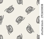 rope doodle seamless pattern... | Shutterstock . vector #292603838