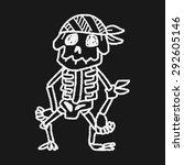 skull doodle | Shutterstock . vector #292605146