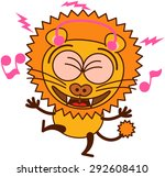 cute lion in minimalistic style ... | Shutterstock .eps vector #292608410