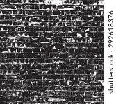 brick wall overlay texture  ... | Shutterstock . vector #292618376