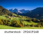 funes valley  trentino alto... | Shutterstock . vector #292619168